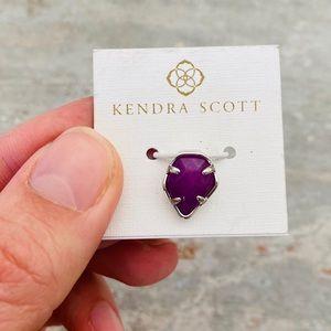 ♥️ Kendra Scott ♥️ Silver Purple Stone Charm